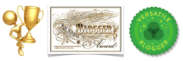 Versatile blogger award and Very inspiring blogger award